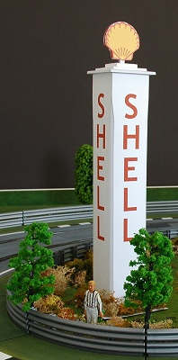Décoration circuit : Tour Shell